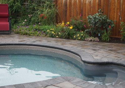 Paver pool deck and coping