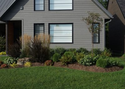 Front garden with a mix of perennials and shrubs