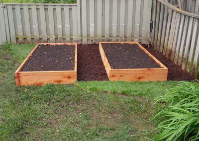 Cedar garden boxes for vegetables